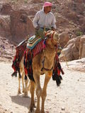 Nomad in the desert Royalty Free Stock Photos