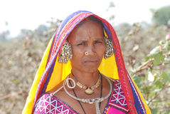 Nomad Lambadi woman India Royalty Free Stock Image