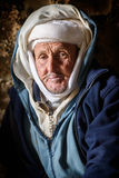 Nomad man living in the cave, Nomad Valley, Atlas Mountains, Morocco stock images