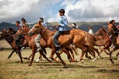 Nomad national horse riding competition Stock Photos