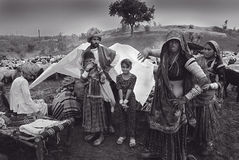 Nomad People in India Stock Photo