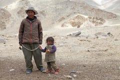 Nomad people in Ladakh, India stock photos