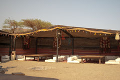 Nomad tent. Typical saharan nomad tent in Egypt Stock Photo
