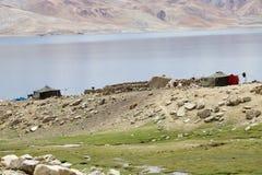 Tso Moriri Lake in Ladakh, India Stock Image