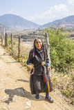 Nomad woman, Bhutan Royalty Free Stock Photos