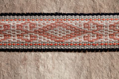 Nomad yurt detail thick felt background and rope Stock Photos
