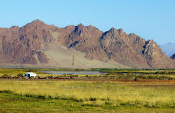 Nomad yurt in the steppe Stock Photos