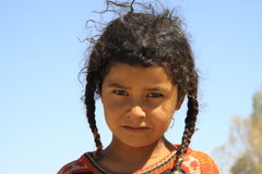 Nomadbarn i Egypten Royaltyfria Bilder