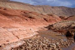 Nomaddal i kartbokberg, Marocko Arkivbild