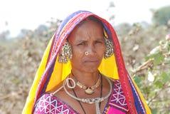 Nomade Lambadi-Frau Indien lizenzfreies stockbild