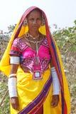Nomade Lambadi-Frau Indien lizenzfreie stockfotografie