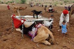 Nomade-Leute in Indien Lizenzfreie Stockbilder