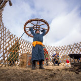 Nomade mongol Images libres de droits