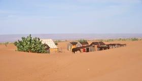 Nomadelager in der Wüste Stockfoto
