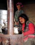 Nomaden in Ladakh, Indien lizenzfreies stockfoto
