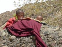 Nomaden in Ladakh, Indien lizenzfreie stockbilder