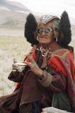 Nomaden in Ladakh, Indien lizenzfreie stockfotos