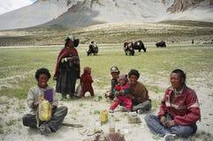 Nomades dans Ladakh, Inde Photos libres de droits