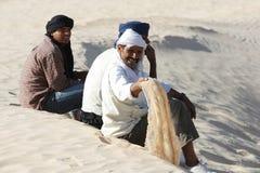 Nomadi nel Sahara Fotografia Stock Libera da Diritti