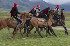 Nomadic horse games. Stock Photos