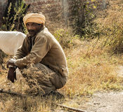 Nomadic Person Northern India Stock Photos