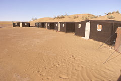 Nomadic's people campsite in the Sahara desert Royalty Free Stock Photos