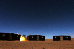 Nomadic's people campsite under the stars Stock Images