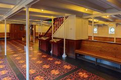 Nomadic (1911), a steamship of the White Star Line. BELFAST, NI - JULY 16, 2016: SS Nomadic (1911), a steamship of the White Star Line. It was a tender to RMS royalty free stock image