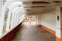 Nomadic (1911), a steamship of the White Star Line. BELFAST, NI - JULY 16, 2016: SS Nomadic (1911), a steamship of the White Star Line. It was a tender to RMS stock photography