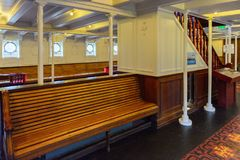 Nomadic (1911), a steamship of the White Star Line. BELFAST, NI - JULY 16, 2016: SS Nomadic (1911), a steamship of the White Star Line. It was a tender to RMS stock image