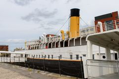 Nomadic (1911), a steamship of the White Star Line. BELFAST, NI - JULY 16, 2016: SS Nomadic (1911), a steamship of the White Star Line. It was a tender to RMS stock photos