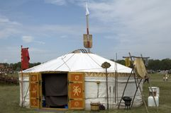 Nomadic tent, Bosztorpuszta, Hungary Stock Photo