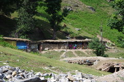 Nomadic village in Srinagar in Kashmir, India. Nomadic village near Sonamarg in Kashmir, in India stock photos