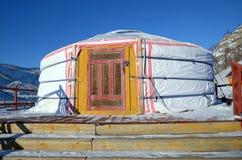 Nomadic Yurt in Terelj National Park. Mongolia Royalty Free Stock Image