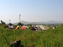 Nomadische hutten royalty-vrije stock foto's