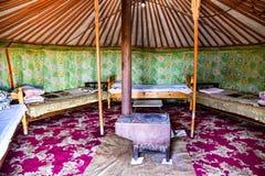 Nomadisches Ger in Mongolei Lizenzfreies Stockfoto