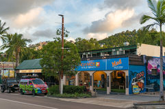 Nomads at Airlie beach. Popular accommodation for backpackers an. Airlie beach, Australia - February 5, 2017: Nomads at Airlie beach. Popular Airlie beach Royalty Free Stock Photos