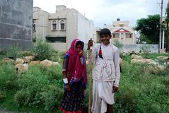 Nomads from Rajasthan, India Stock Images