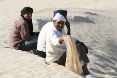 Nomads in Sahara Royalty Free Stock Photo