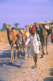 Nomads on the way to the Camel fair, Jaisalmer, India Royalty Free Stock Photos