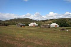 nomadzi Mongolii w domu Fotografia Stock