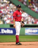 Nomar Garciaparra Boston Red Sox shortstop. Red Sox SS Nomar Garciaparra batting  (Image taken from color slide Royalty Free Stock Image