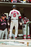 Nomar Garciaparra Boston Red Sox shortstop. Red Sox SS Nomar Garciaparra batting  (Image taken from color slide Royalty Free Stock Photography