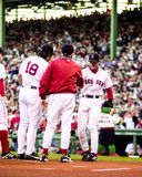 Nomar Garciaparra, introduced in Game 3 of 2003 ALCS. Red Sox SS Nomar Garciaparra is introduced in the 2003 ALCS. (Image taken from color slide Stock Photography