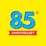 Nombre bleu gentil et de moderns pour des célébrations et des anniversaires Image libre de droits