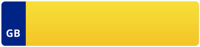 Nombre BRITANNIQUE de Vehivle de voiture/plaque minéralogique Photographie stock