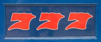 Nombre chanceux 777 Image libre de droits