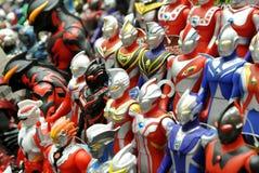 Nombre d'actions de caractère fictif de série populaire japonaise Ultraman photo stock