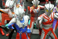 Nombre d'actions de caractère fictif de série populaire japonaise Ultraman photographie stock libre de droits