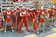 Nombre d'actions de caractère fictif de série populaire japonaise Ultraman image stock